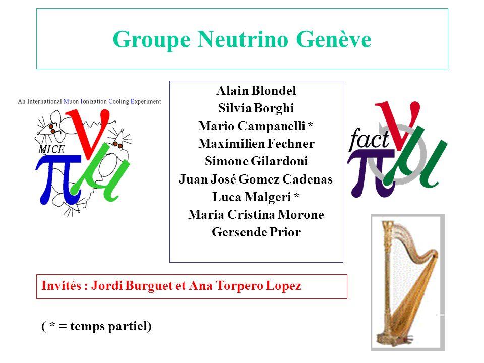 Groupe Neutrino Genève Juan José Gomez Cadenas