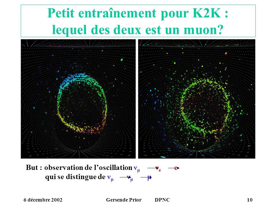 Petit entraînement pour K2K : lequel des deux est un muon