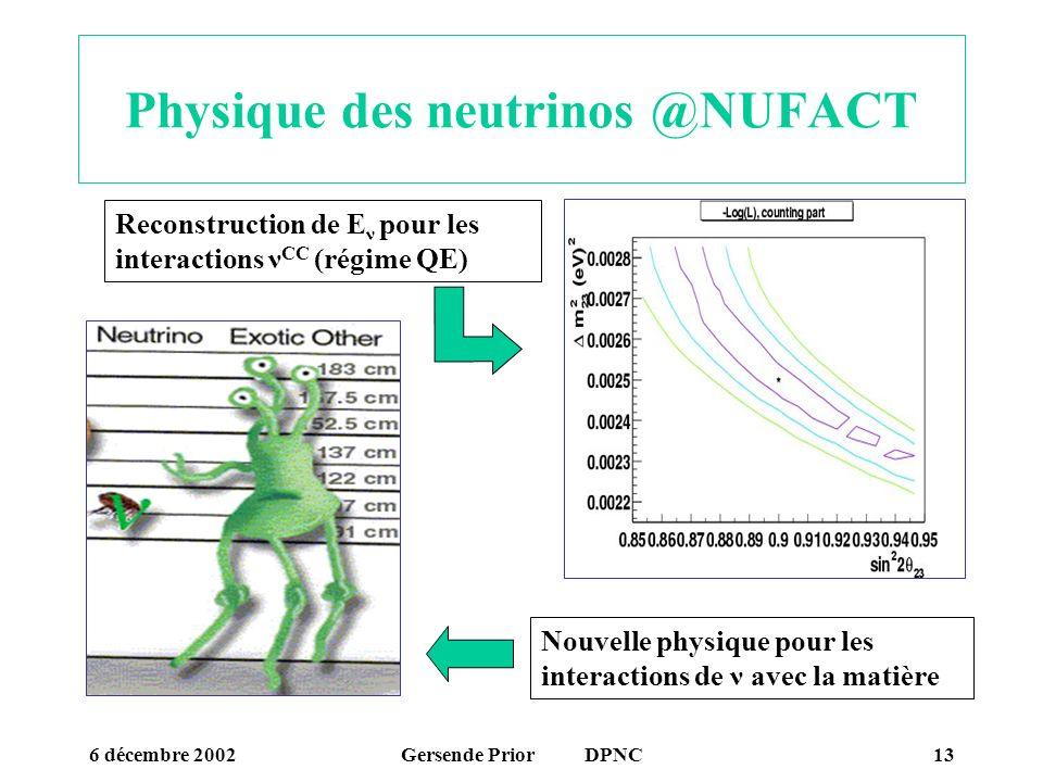 Physique des neutrinos @NUFACT