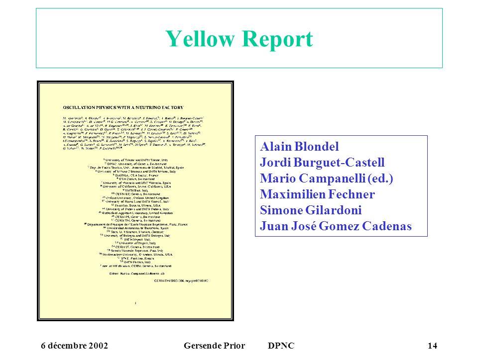 Yellow Report Alain Blondel Jordi Burguet-Castell