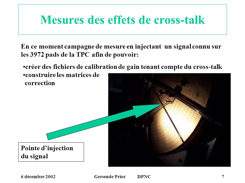 Mesures des effets de cross-talk
