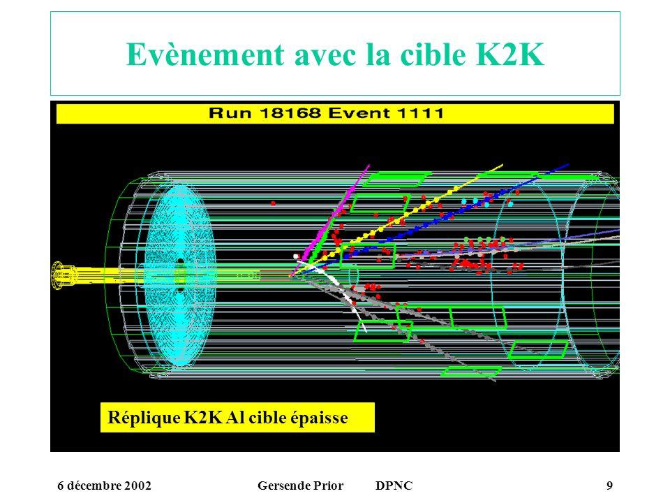 Evènement avec la cible K2K