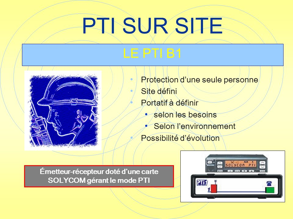 Émetteur-récepteur doté d'une carte SOLYCOM gérant le mode PTI