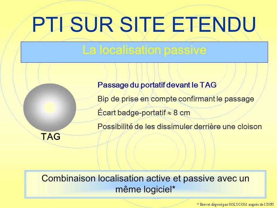 PTI SUR SITE ETENDU La localisation passive TAG