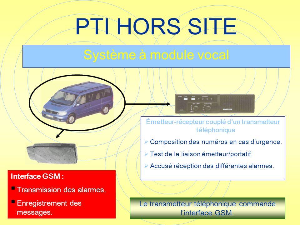 Émetteur-récepteur couplé d'un transmetteur téléphonique