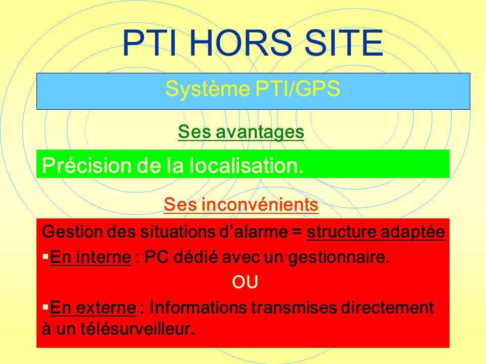 PTI HORS SITE Système PTI/GPS Précision de la localisation.