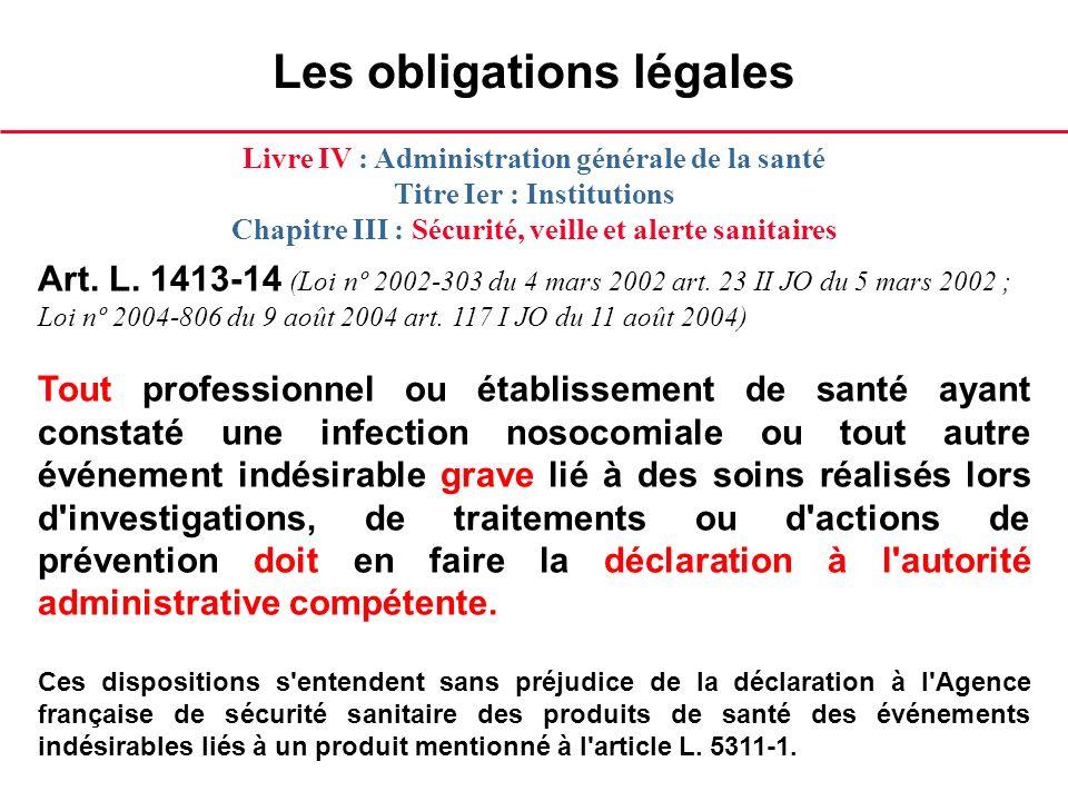 Les obligations légales