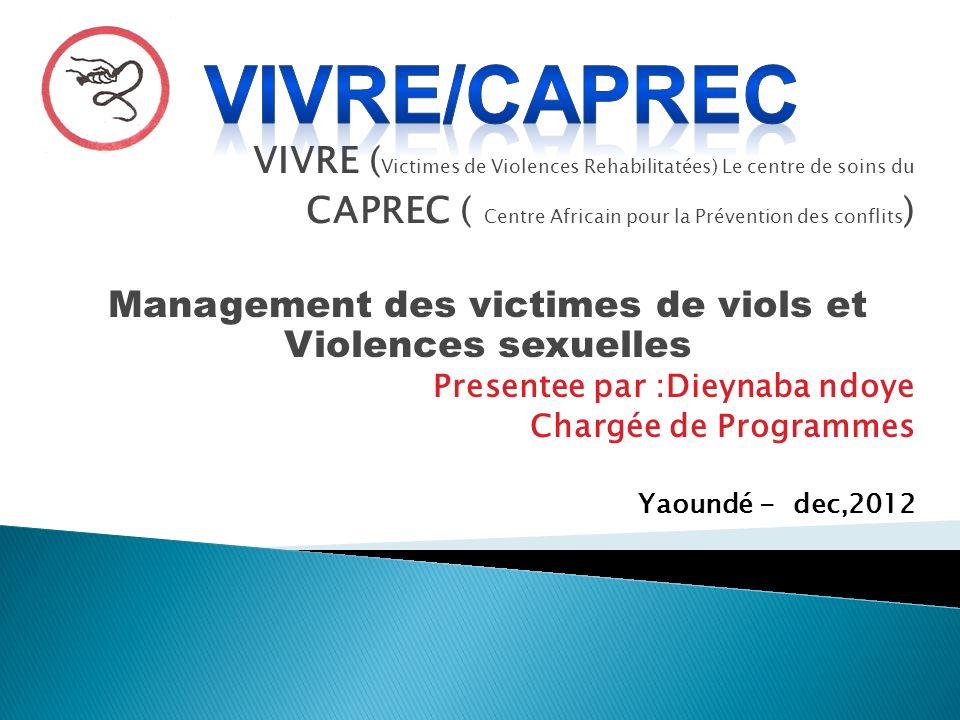 Management des victimes de viols et Violences sexuelles