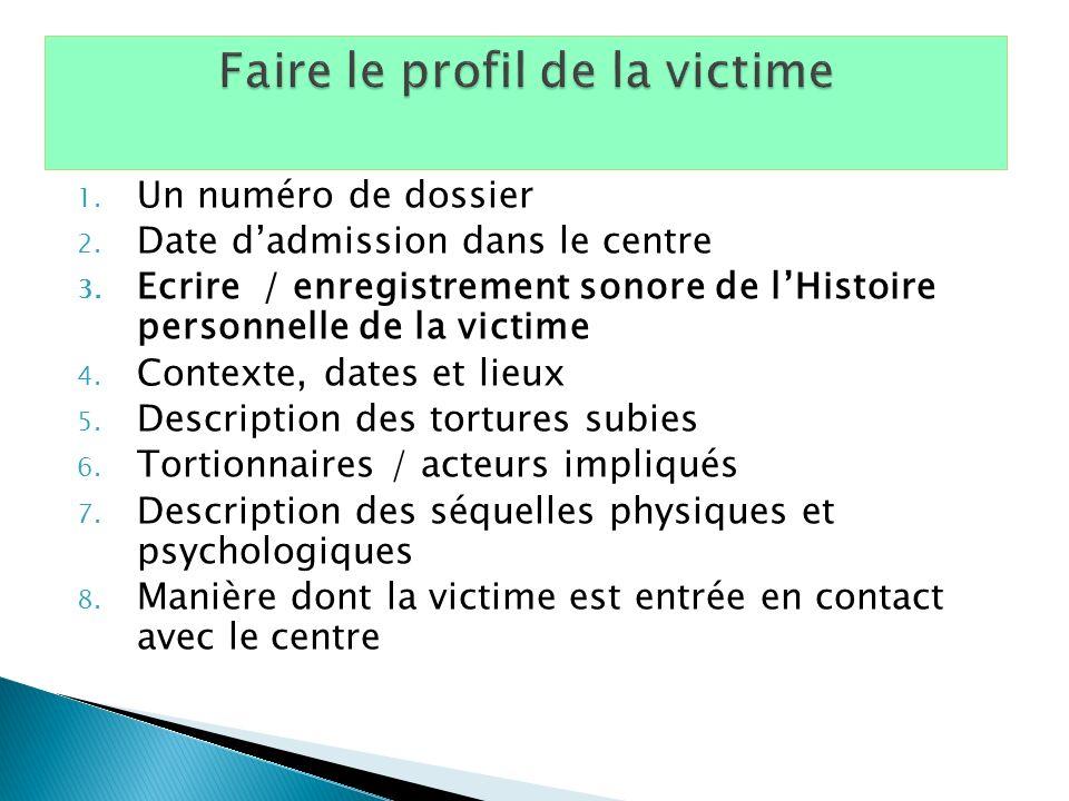 Faire le profil de la victime