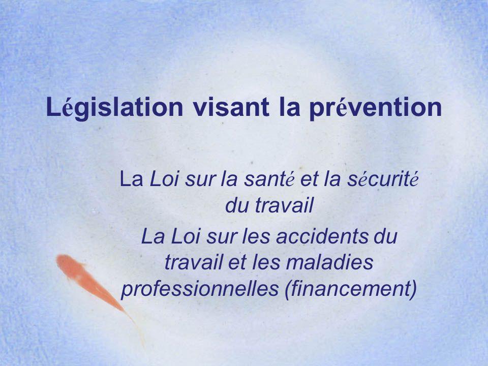 Législation visant la prévention