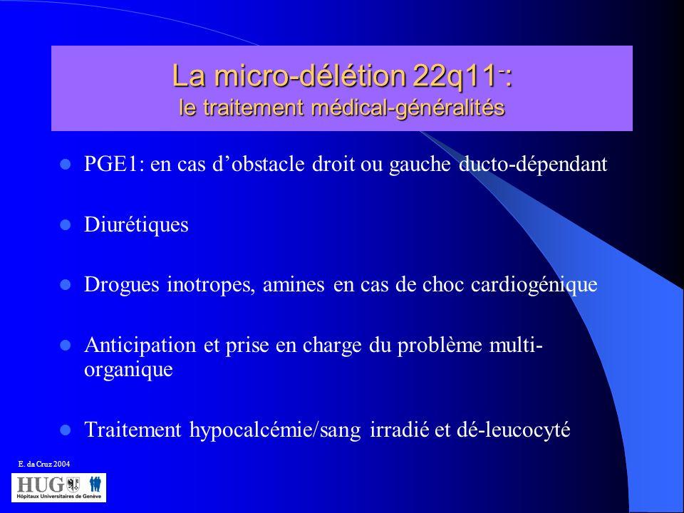 La micro-délétion 22q11-: le traitement médical-généralités