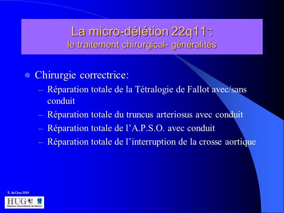 La micro-délétion 22q11-: le traitement chirurgical- généralités