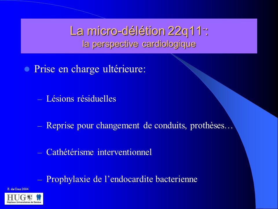 La micro-délétion 22q11-: la perspective cardiologique