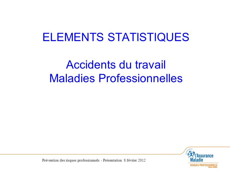 ELEMENTS STATISTIQUES Accidents du travail Maladies Professionnelles