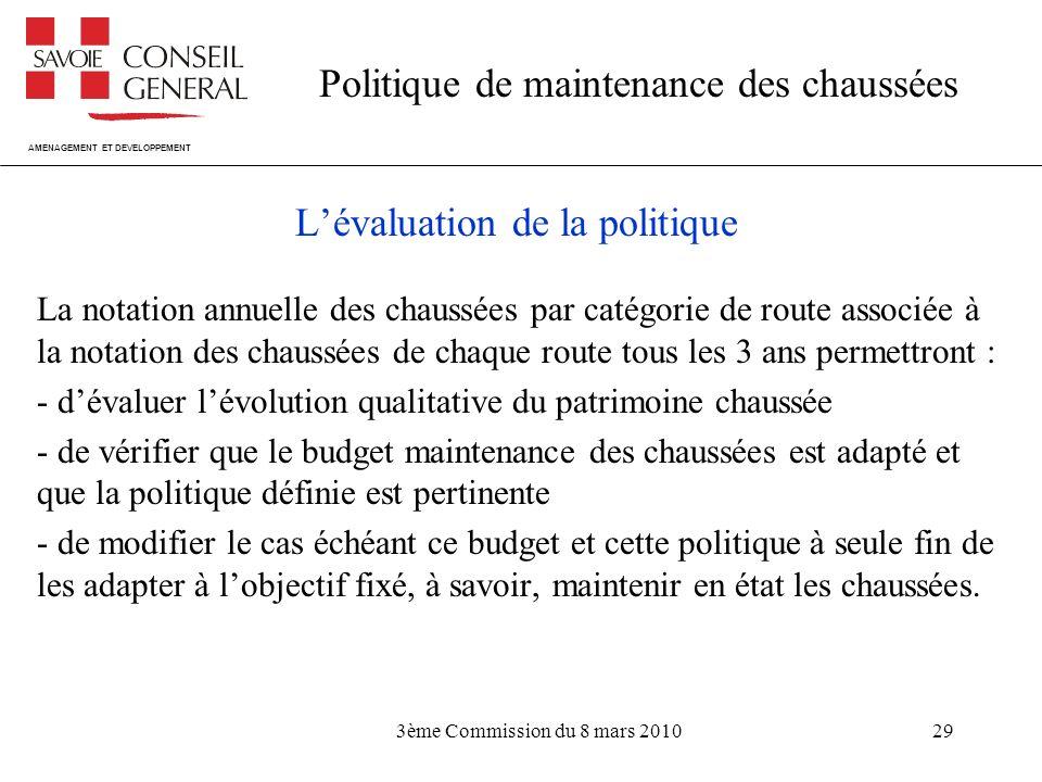 L'évaluation de la politique