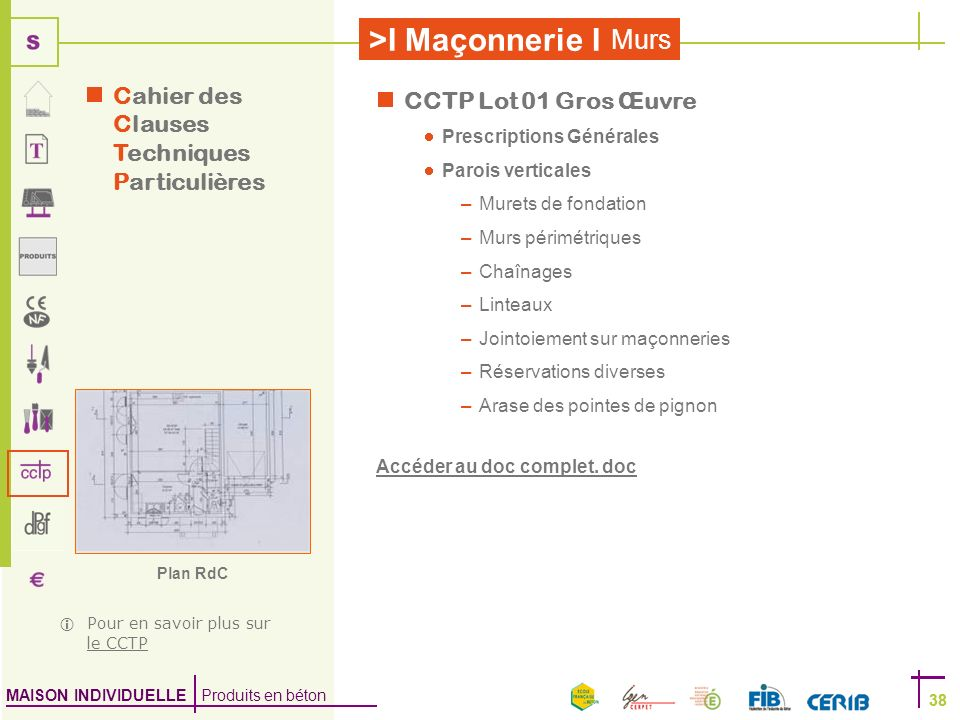 Cahier des Clauses Techniques Particulières CCTP Lot 01 Gros Œuvre