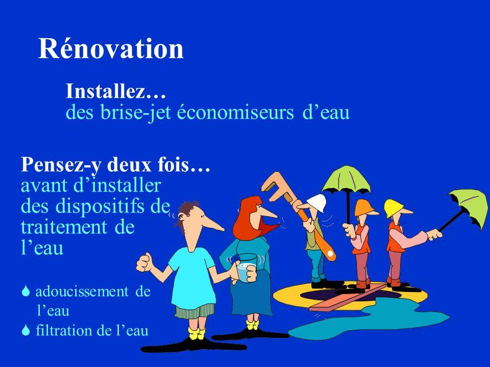 Rénovation Installez… des brise-jet économiseurs d'eau