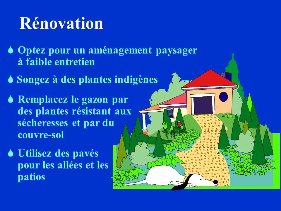 Rénovation Optez pour un aménagement paysager à faible entretien