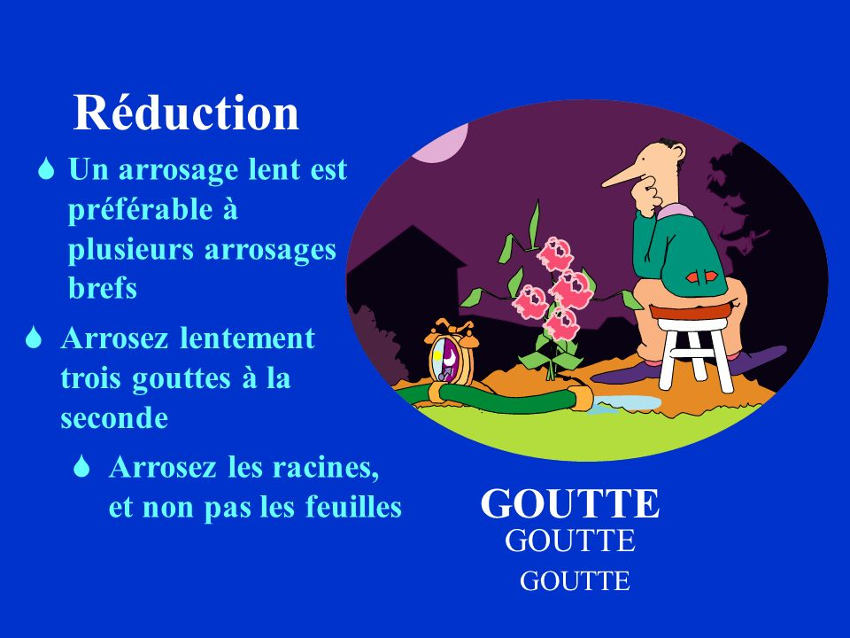 Réduction GOUTTE GOUTTE GOUTTE