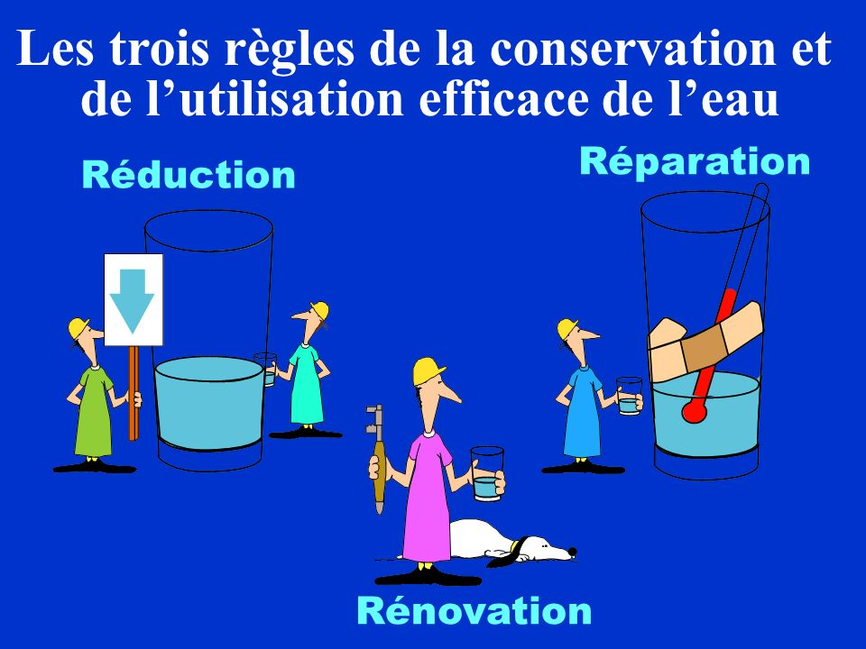 Les trois règles de la conservation et