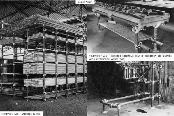 Novembre 1945 – Stockage du bois