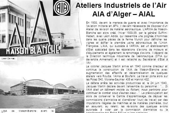 Ateliers Industriels de l'Air AIA d'Alger – AIAL