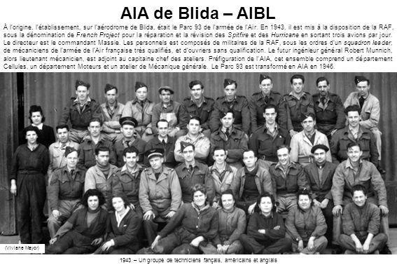 1943 – Un groupe de techniciens fançais, américains et anglais