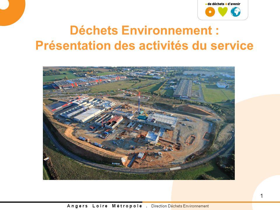 Déchets Environnement : Présentation des activités du service