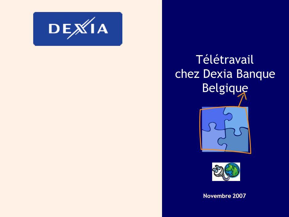 Télétravail chez Dexia Banque Belgique