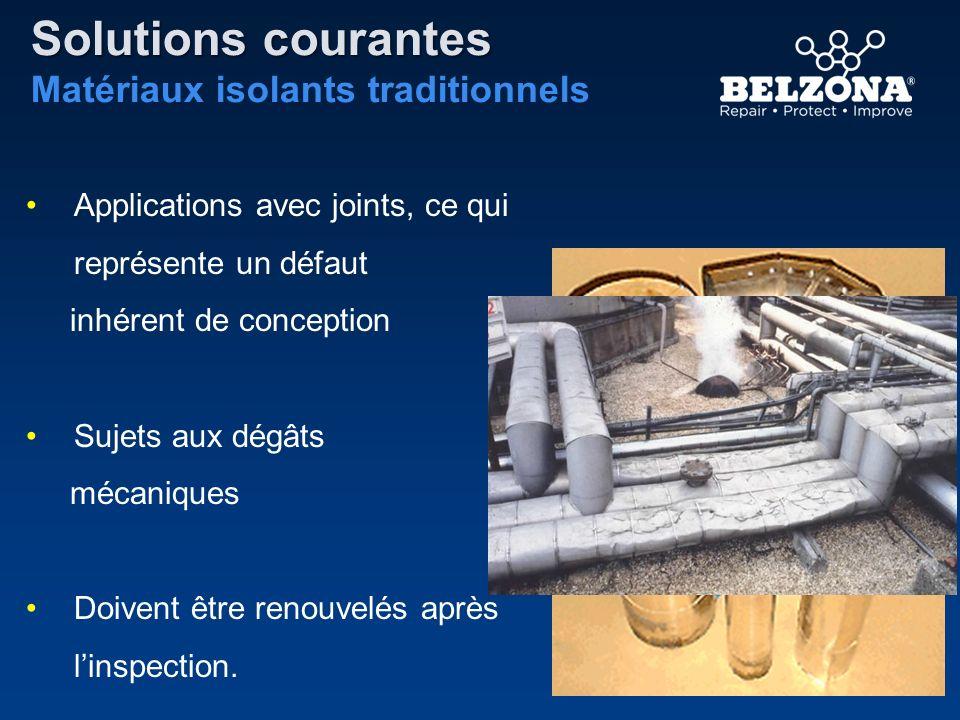Solutions courantes Matériaux isolants traditionnels