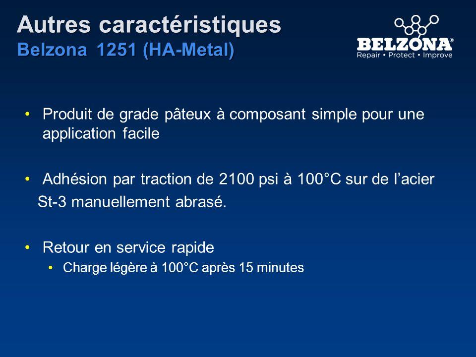 Autres caractéristiques Belzona 1251 (HA-Metal)