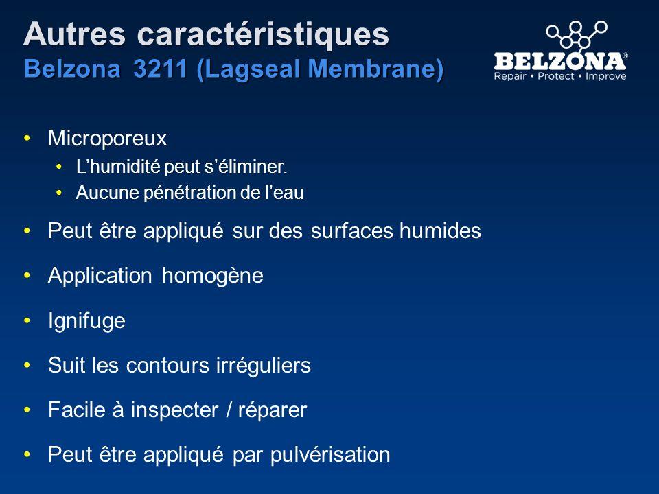 Autres caractéristiques Belzona 3211 (Lagseal Membrane)