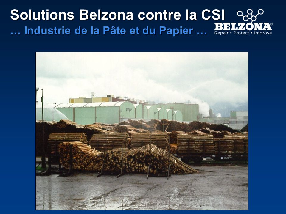 Solutions Belzona contre la CSI