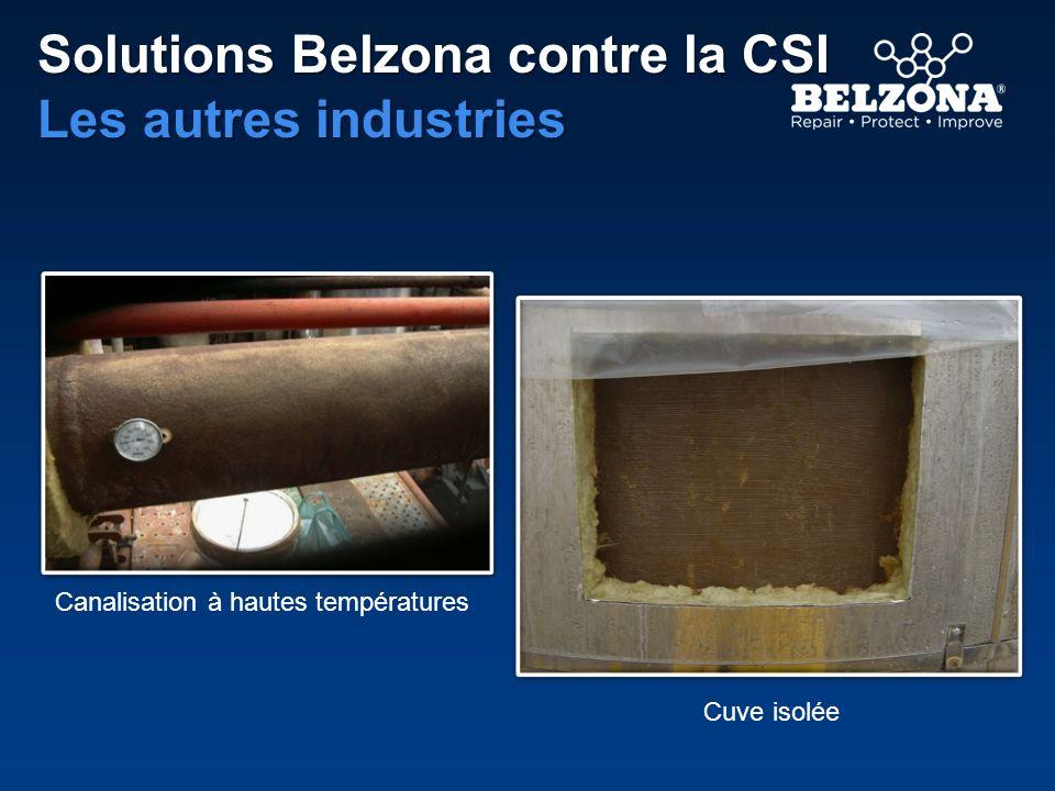 Solutions Belzona contre la CSI Les autres industries