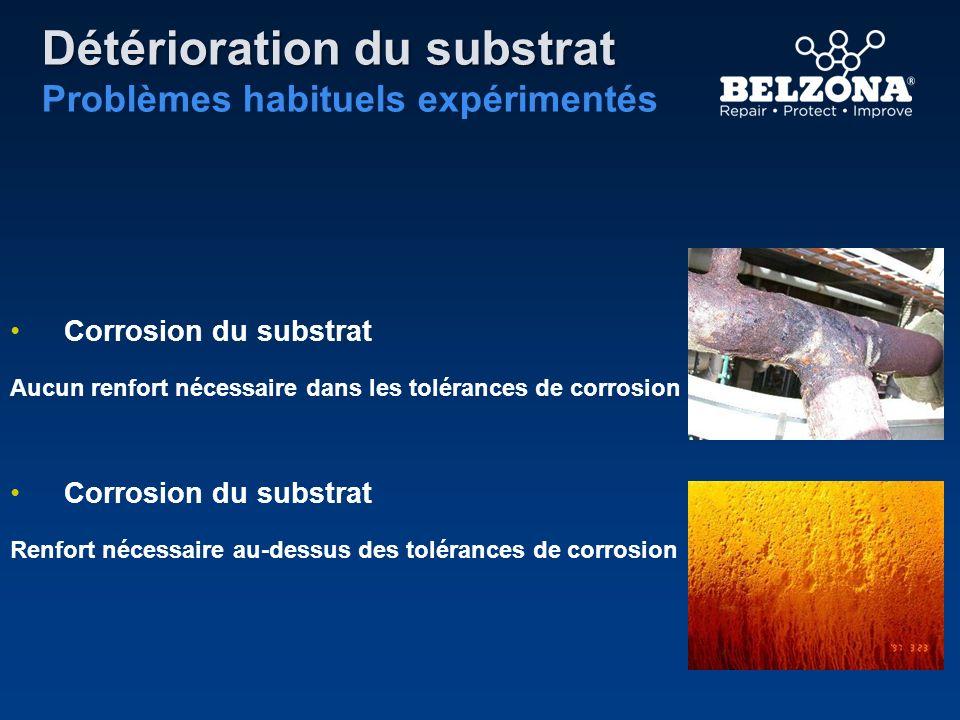 Détérioration du substrat