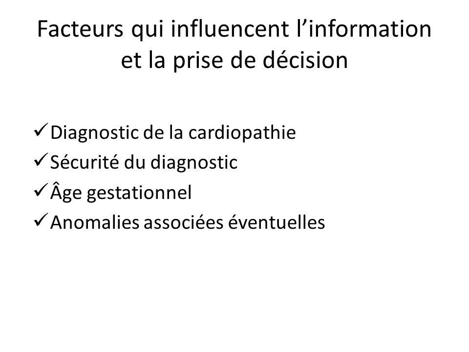 Facteurs qui influencent l'information et la prise de décision