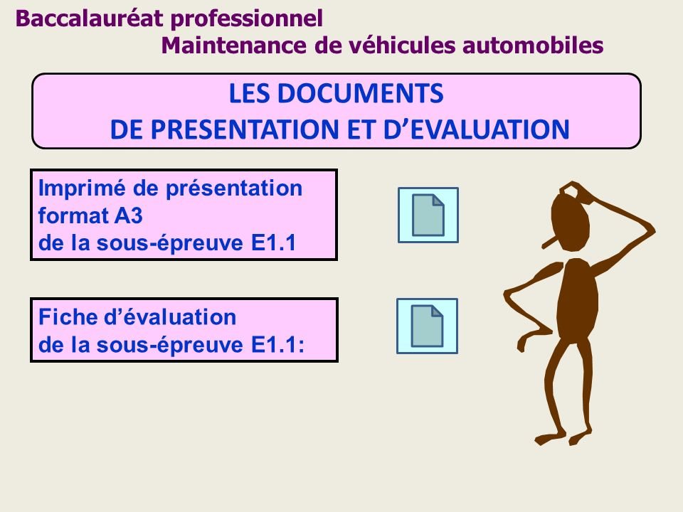 DE PRESENTATION ET D'EVALUATION