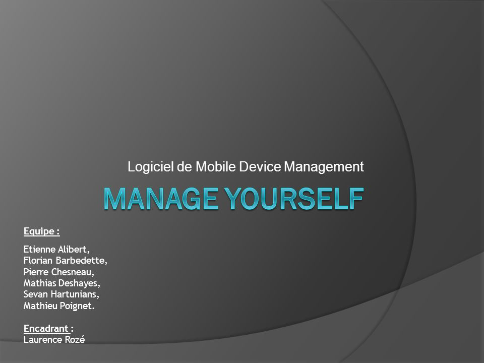 Logiciel de Mobile Device Management