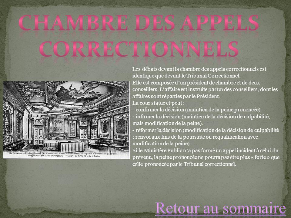 Chambre des appels correctionnels