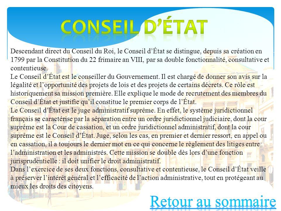 Conseil d'état Retour au sommaire