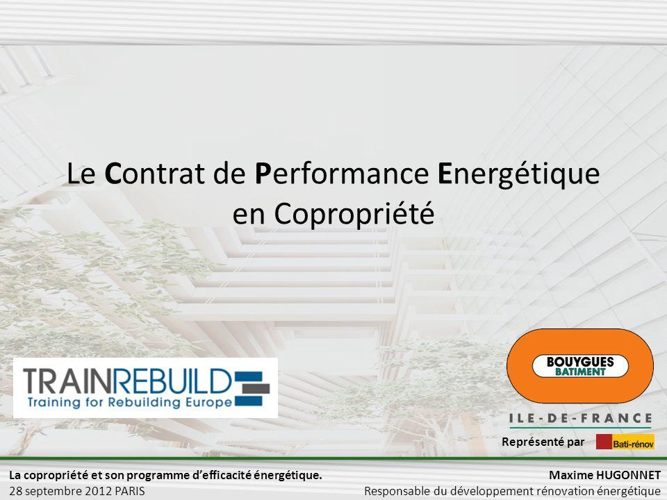 Le Contrat de Performance Energétique en Copropriété