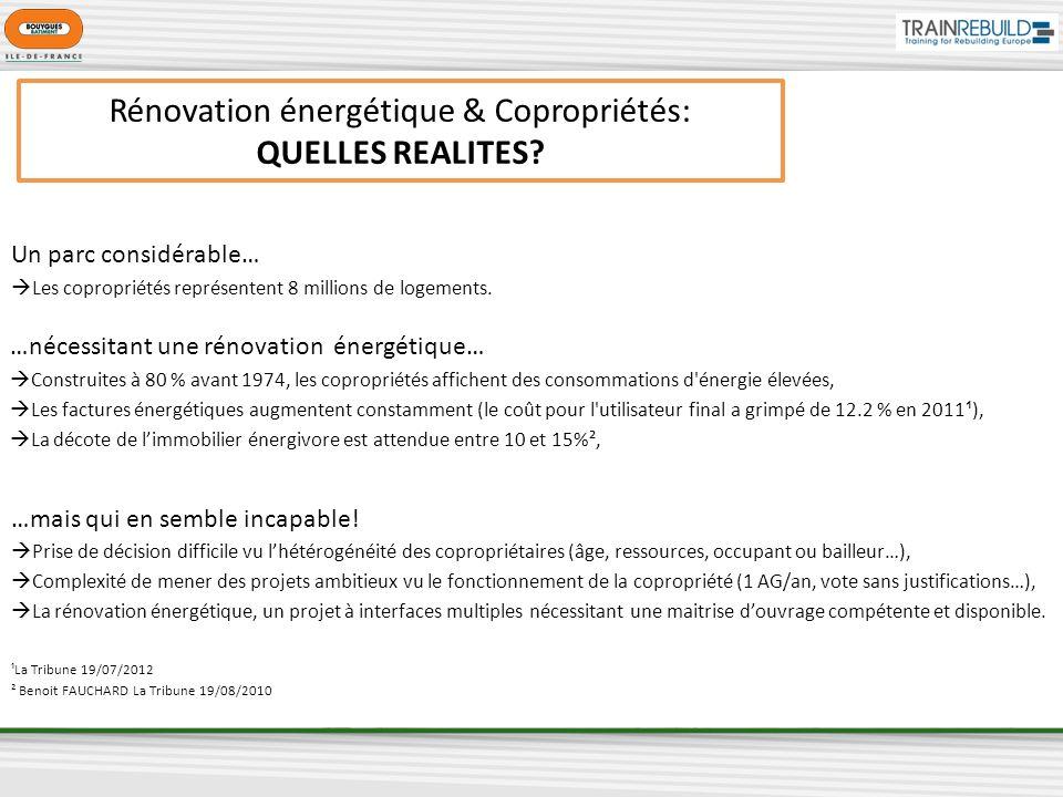 Rénovation énergétique & Copropriétés: QUELLES REALITES