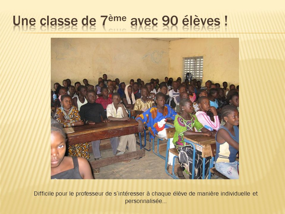 Une classe de 7ème avec 90 élèves !