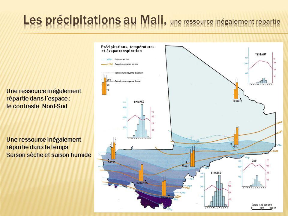 Les précipitations au Mali, une ressource inégalement répartie
