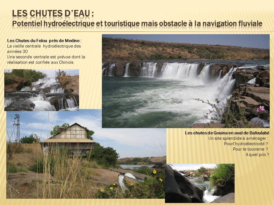 LES CHUTES D'EAU : Potentiel hydroélectrique et touristique mais obstacle à la navigation fluviale