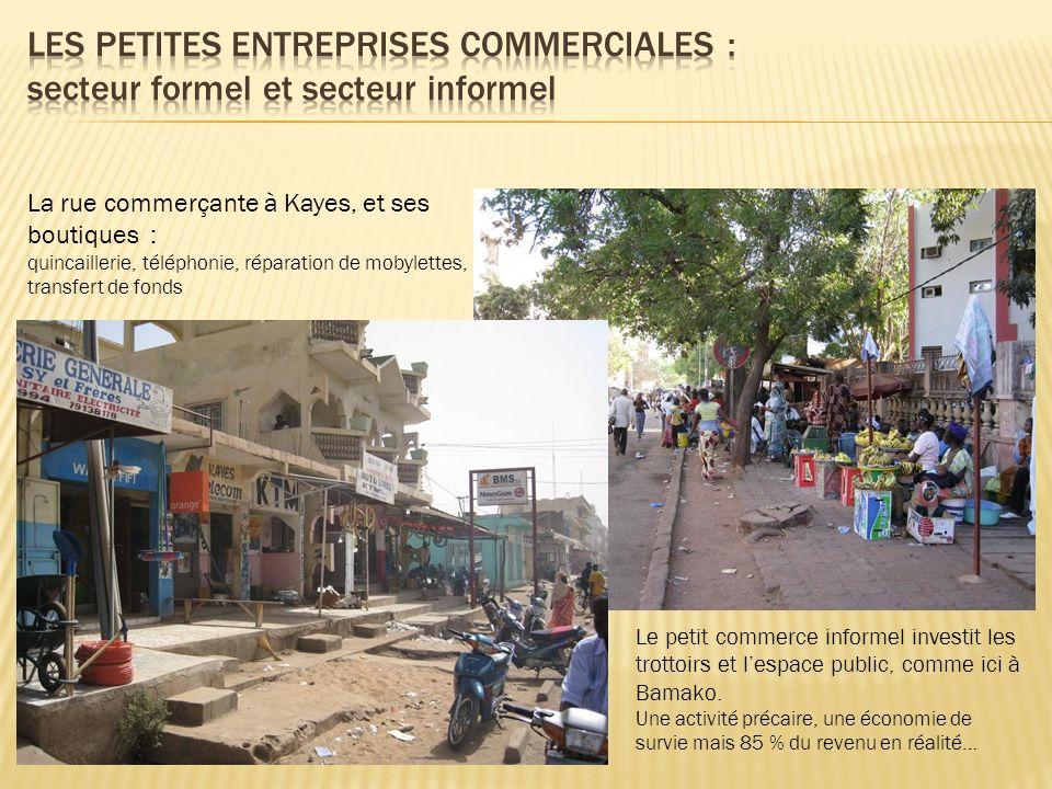 Les petites entreprises commerciales : secteur formel et secteur informel