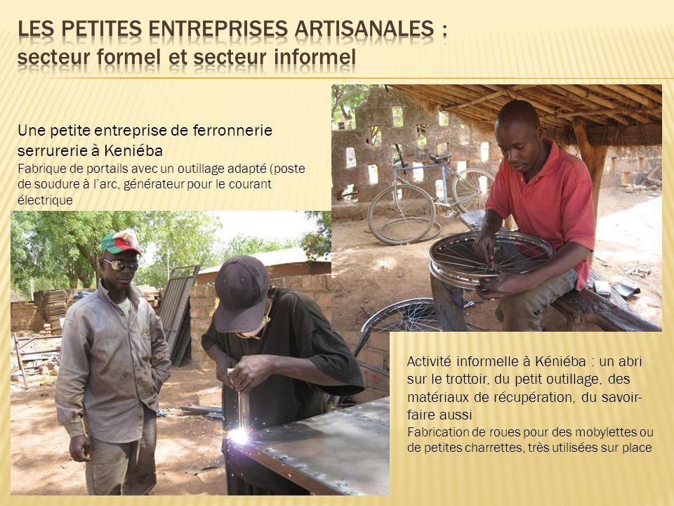 Les petites entreprises artisanales : secteur formel et secteur informel
