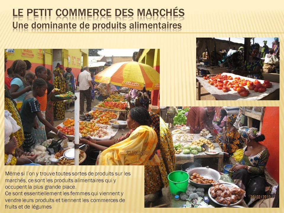 LE PETIT COMMERCE DES MARCHÉS Une dominante de produits alimentaires