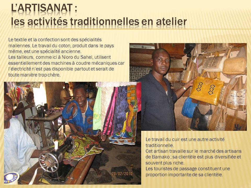 L'artisanat : les activités traditionnelles en atelier