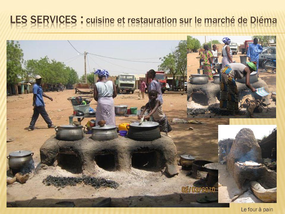 Les services : cuisine et restauration sur le marché de Diéma